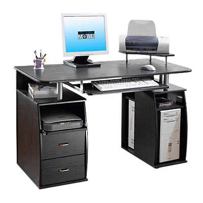 Dual Pedestal Computer Desk With Keyboard Tray Smart