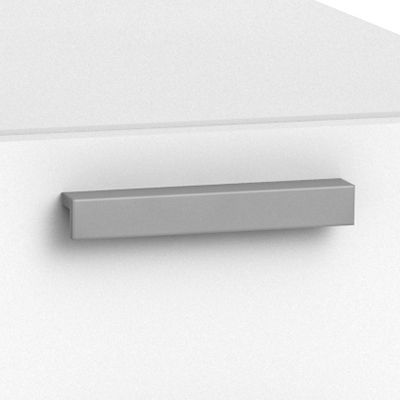 "Platinum Bar Pull for Currency 60"" Single Pedestal Desk by Steelcase, Left Hand (TS5TLDL)"