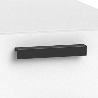 "Black Bar Pull for Currency 60"" Single Pedestal Desk by Steelcase, Left Hand (TS5TLDL)"