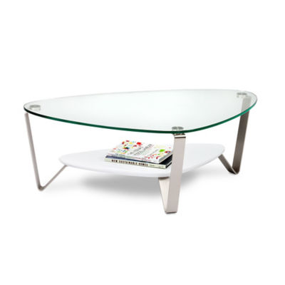 1344-GLOSS WHITE: Customized Item of Small Dino Coffee Table by BDI (1344)