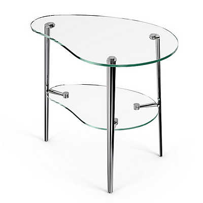 Picture of Comma End Table, Polished Legs