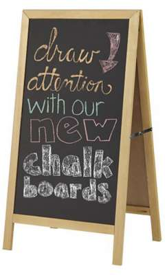 Picture for Wooden A-Frame Chalkboard Sign by Smart Fixtures