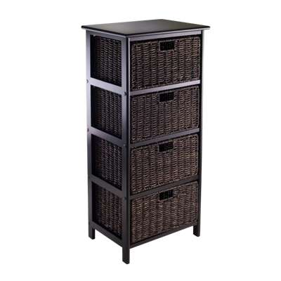 Picture for Four-Tier Storage Rack with 4 Baskets