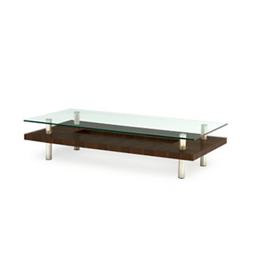 2301-CHOCOLATE STAINED WALNUT: Customized Item of Hokkaido Large Coffee Table by BDI (2301)