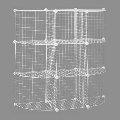 Picture for 3x3 Mini-Grid Unit w Back, Quarter-Round Sides by Smart Fixtures