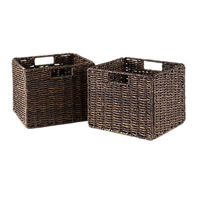 Picture of Small Foldable Corn Husk Baskets, Set of 2