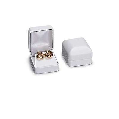 Picture for White Faux Leather Earring Box by Smart Fixtures