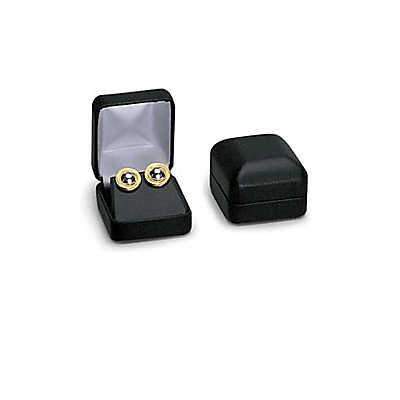 Picture of Black Faux Leather Earring Box by Smart Fixtures