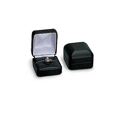 Picture of Black Faux Leather Ring Box by Smart Fixtures