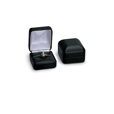 Picture for Black Faux Leather Ring Box by Smart Fixtures