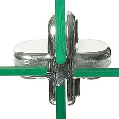 "Picture for 4-Way Clip for 3/16"" Tempered Glass Panels by Smart Fixtures"