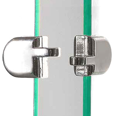 "Picture of 2-Piece Hasp For 3/16"" Tempered Glass Panels by Smart Fixtures"