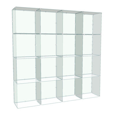 Picture of 4x4 Glass Cube Display with Backs, 10x16 Panels by Smart Fixtures