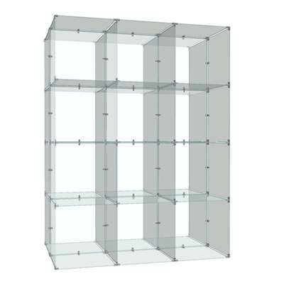 Picture for Double Sided 4x3 Cube Display, 10x16 Panels by Smart Fixtures