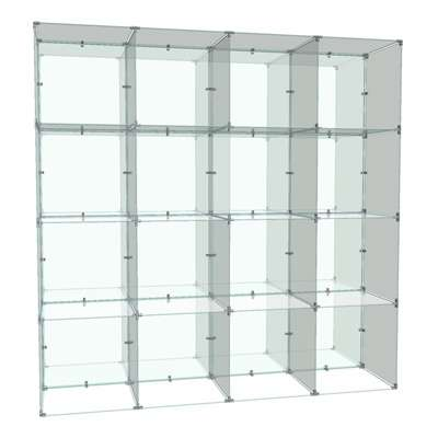 Picture for Double Sided 4 x 4 Cube Display, 10 x 16 Panels by Smart Fixtures