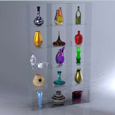 Picture for 5 x 3 Glass Cube Display with Plastic Clips by Smart Fixtures