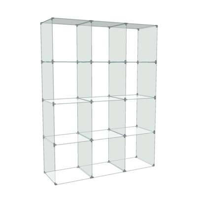 Picture for 4 x 3 Glass Cube Display, 12 x 12 Panels by Smart Fixtures
