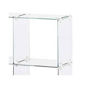 Picture of 4 x 5 Glass Cube Display, Plastic Clips by Smart Fixtures