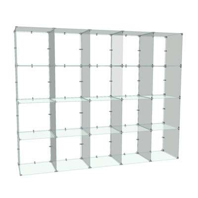 Picture for 4x5 Glass Cube Display with Backs, 12x12 Panels by Smart Fixtures
