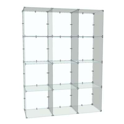 Picture for 4x3 Glass Cube Display with Backs, 14x14 Panels by Smart Fixtures