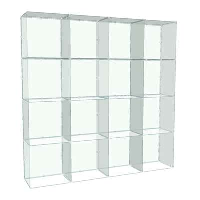 Picture for 4x4 Glass Cube Display with Backs, 14x14 Panels by Smart Fixtures