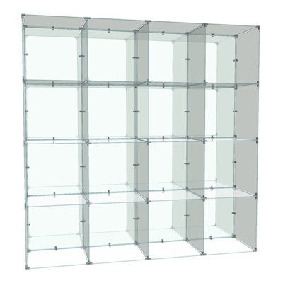 Picture of Double Sided 4 x 4 Cube Display, 14 x 14 Panels by Smart Fixtures