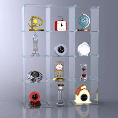 Picture for 4 x 3 Glass Cube Display, Plastic Clips by Smart Fixtures