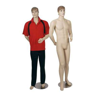 Picture for Male Mannequin with Brushed Chrome Base by Smart Fixtures
