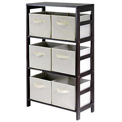 Picture of Three Tier Storage Shelf with Baskets by Smart Furniture