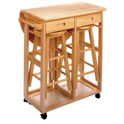 Picture for Space Saving Drop Leaf Table with Round Stools