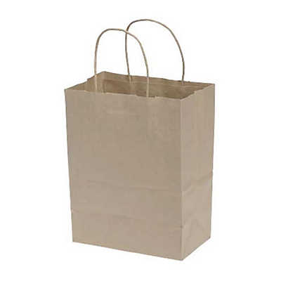 Picture of Natural Paper Shopping Bags, 250ct by Smart Fixtures