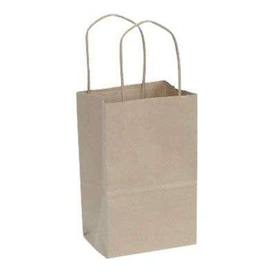 Picture for Kraft Paper Shopping Bags, 5x3x8, 250ct by Smart Fixtures
