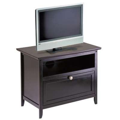 "Picture for 25"" TV Stand with Open Shelf and Pull Down Door"