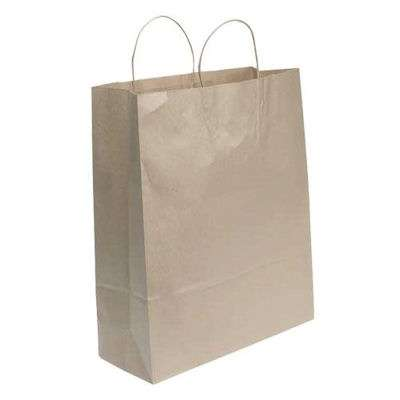 Picture for Kraft Paper Shopping Bags, 16x6x19, 200ct by Smart Fixtures