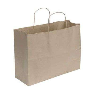 Picture for Kraft Paper Shopping Bag, 16x6, 250ct by Smart Fixtures