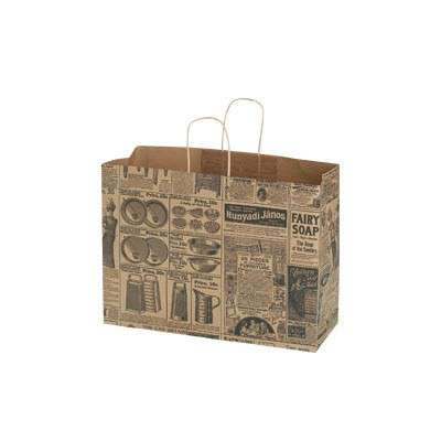 Picture for Newsprint Paper Shopping Bags, 16x6x12, 100ct by Smart Fixtures