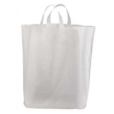 "Picture of Frosted Plastic Shopping Bags, 16"" x 15"", 250ct by Smart Fixtures"