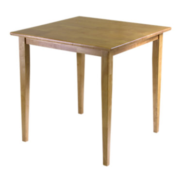 94035-ANTIQUE WALNUT: Customized Item of Square Dining Table with Shaker Legs (94035)