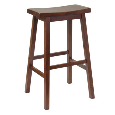 94084-29-ANTIQUE WALNUT: Customized Item of Saddle Seat Stool (94084)