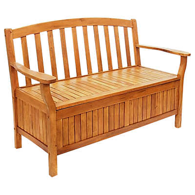 Picture of Outdoor Eucalyptus Wood Storage Bench