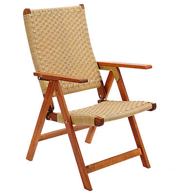Picture of Eucalyptus Wood Polyweave Folding Chair