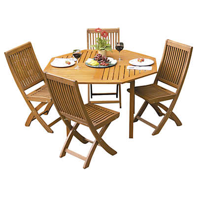 Picture of Eucalyptus Wood Octagonal Outdoor Dining Table