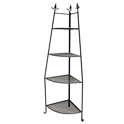 Picture of Wrought Iron Outdoor Corner Etagere