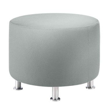 ALIGHTRND-MEADOW-ALUM: Customized Item of Turnstone Alight Round Ottoman by Steelcase (ALIGHTRND)