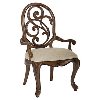 Picture of Jessica McClintock Mink Splat Back Arm Chair by American Drew