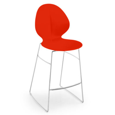 BASILSTOOL-CS1355-RED: Customized Item of Basil Stool by Calligaris (BASILSTOOL)