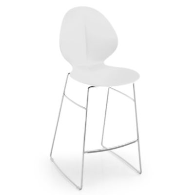 BASILSTOOL-CS1354-WHITE: Customized Item of Basil Stool by Calligaris (BASILSTOOL)