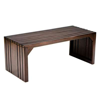 Picture for Hawthorne Slat Bench in Espresso