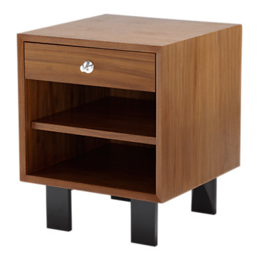 BC1618.BWA2U-LIGHT BROWN WALNUT: Customized Item of Nelson Open Cabinet with Drawer by Herman Miller (BC1618.B)