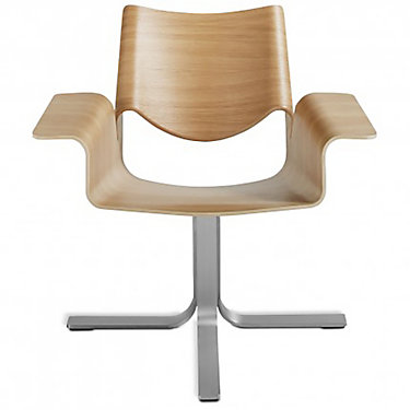 BC1CHRKIT-WALNUTDARKBLUE: Customized Item of Buttercup Chair by Blu Dot (BC1CHRKIT)